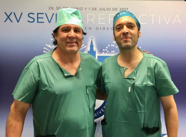 Clinilaser y el Doctor Antolin en el congreso Sevilla Refractiva